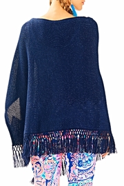 Lilly Pulitzer Floreanna Fringe Wrap - Front full body