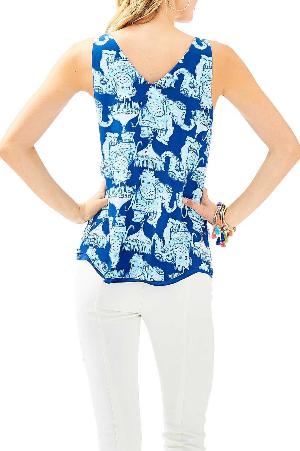 Lilly Pulitzer Florin Reversible Tank - Front Full Image