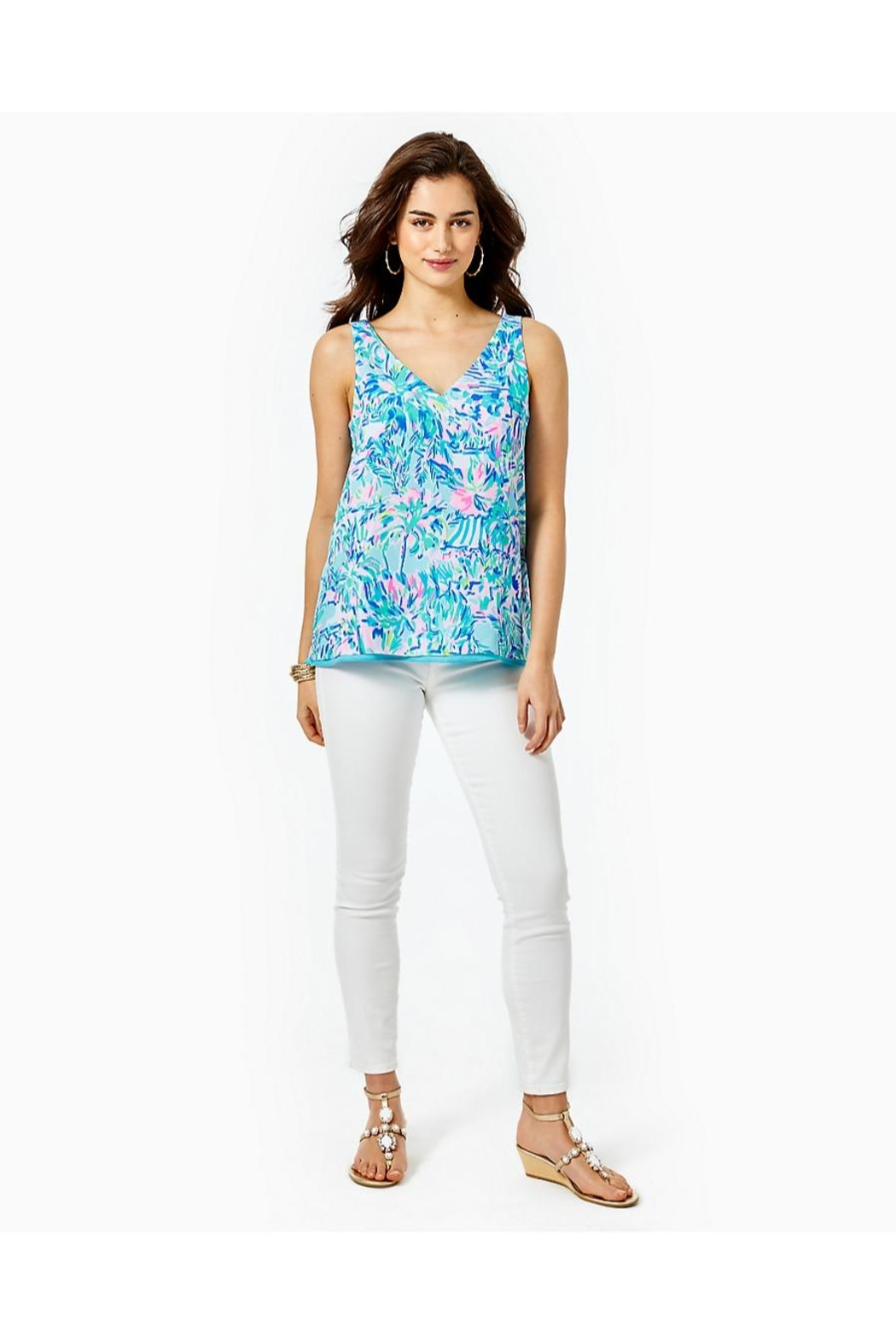 Lilly Pulitzer Florin Reversible Tank Top - Back Cropped Image
