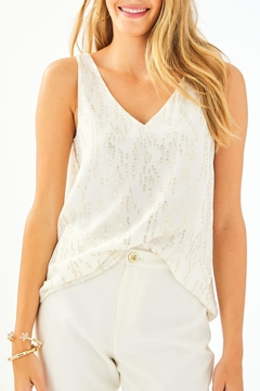 Lilly Pulitzer Florin Silk Tank-Top - Product List Image