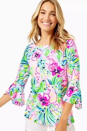 Lilly Pulitzer Fontaine Bell-Sleeve Top - Product Mini Image