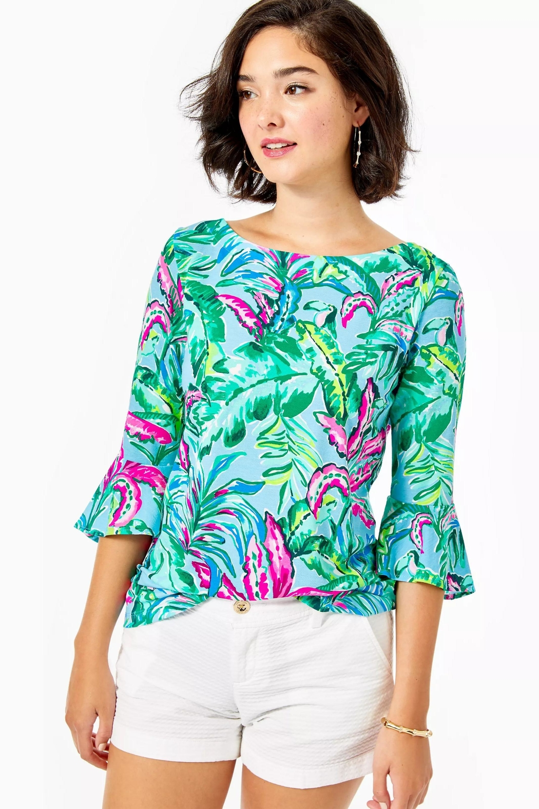 Lilly Pulitzer Fontaine Bell-Sleeve Top - Main Image