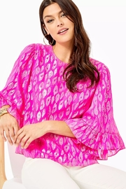 Lilly Pulitzer Francis Silk Top - Product Mini Image