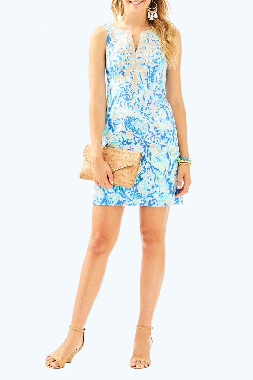 Lilly Pulitzer Gabby Shift Dress - Back Cropped Image