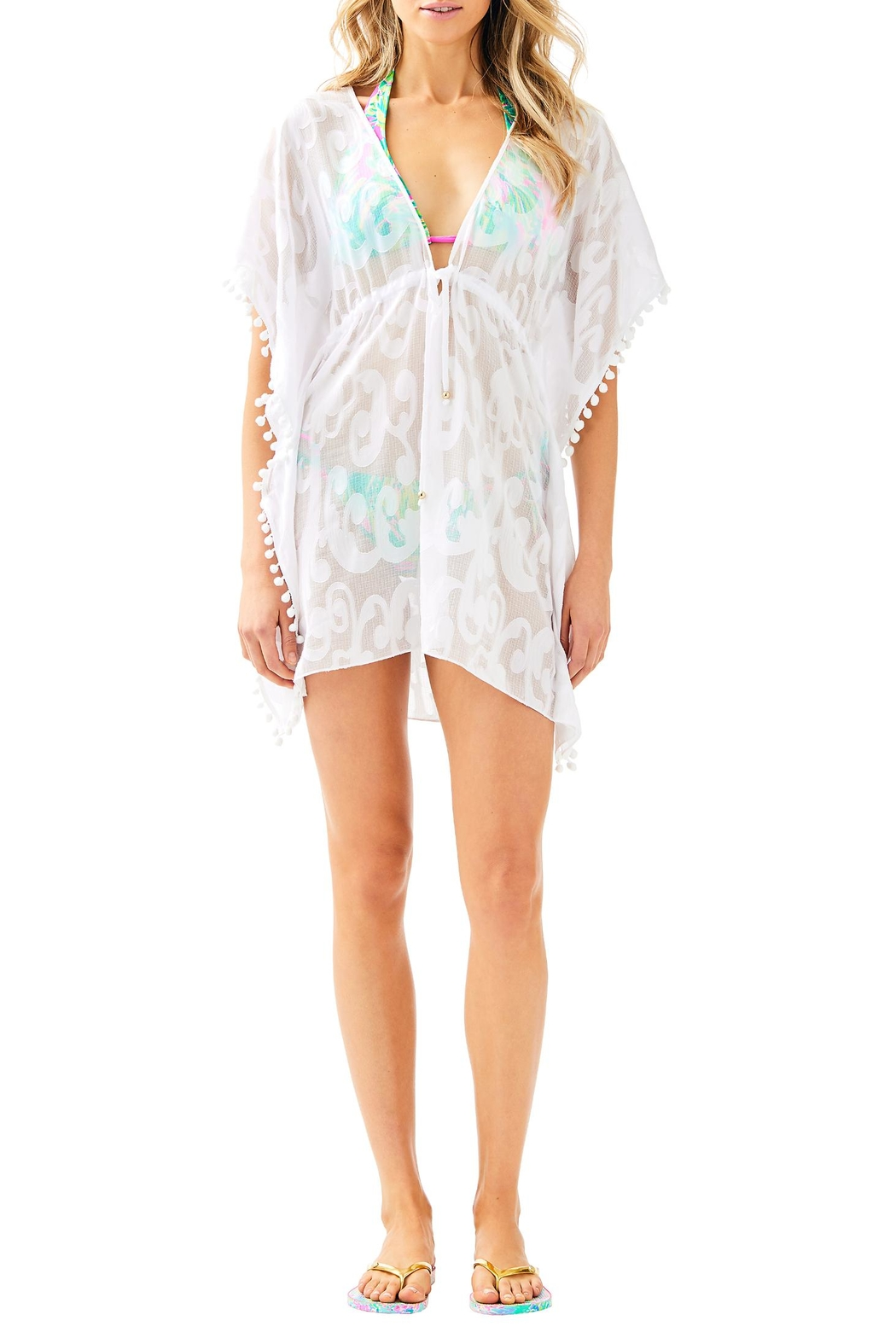 Lilly Pulitzer Gardenia Coverup - Side Cropped Image