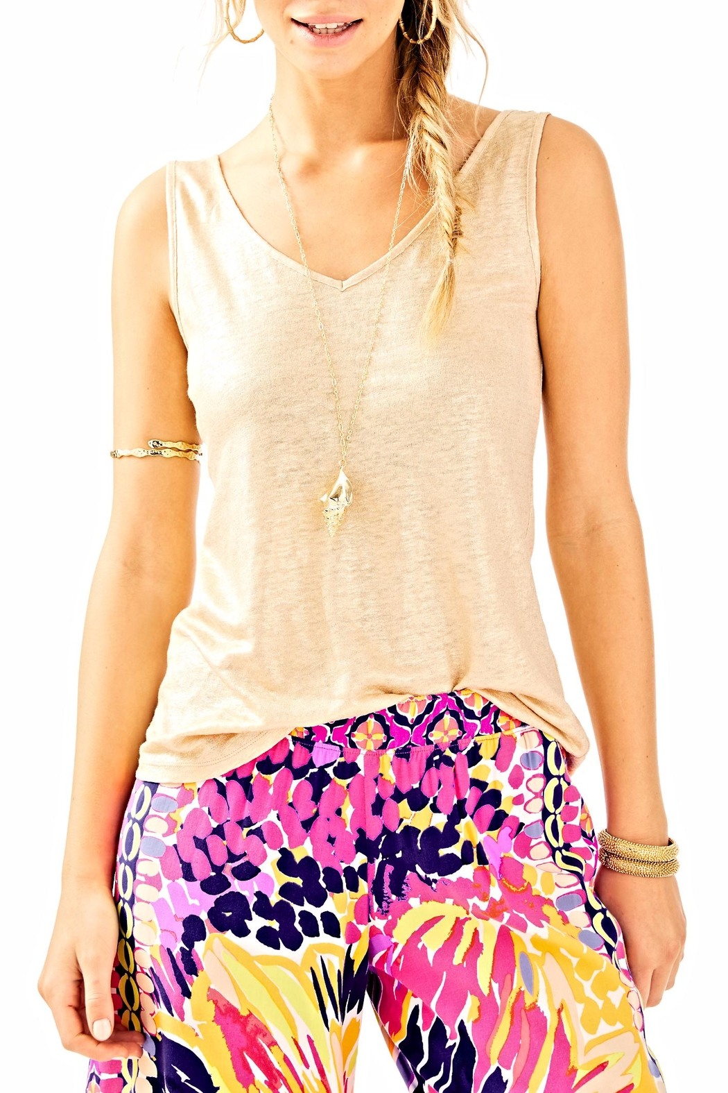 Lilly Pulitzer Gigi Sleeveless Tank Top - Main Image