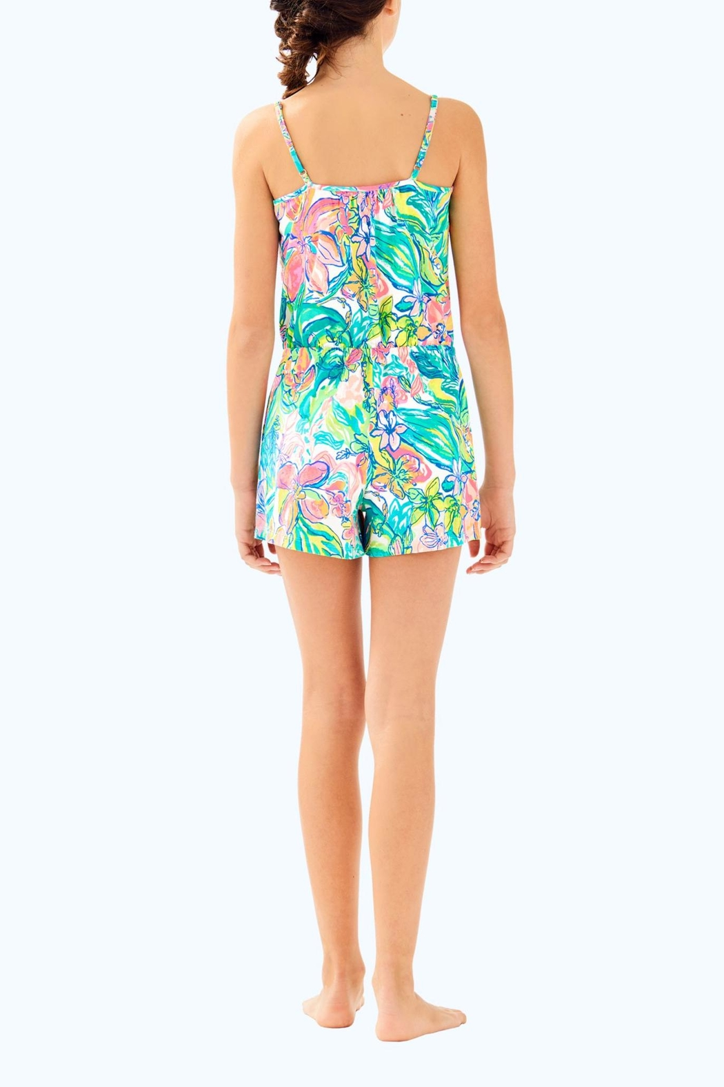 Lilly Pulitzer Girls Aleene Romper - Back Cropped Image