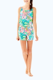 Lilly Pulitzer Girls Aleene Romper - Side cropped