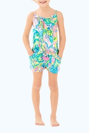 Lilly Pulitzer Girls Aleene Romper - Front cropped