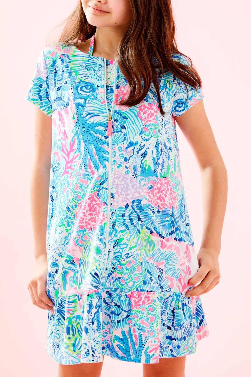 Lilly Pulitzer Girls Ivy Cover-Up - Back Cropped Image