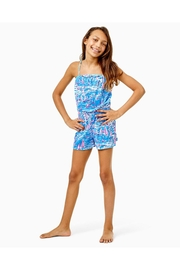 Lilly Pulitzer Girls Jaycee Romper - Front cropped