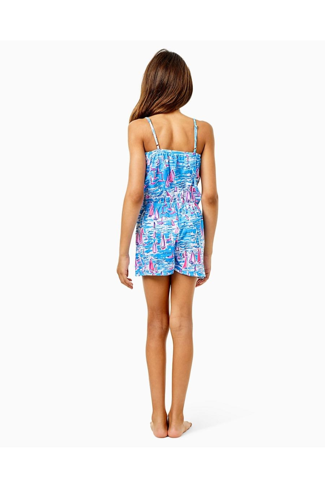 Lilly Pulitzer Girls Jaycee Romper - Front Full Image