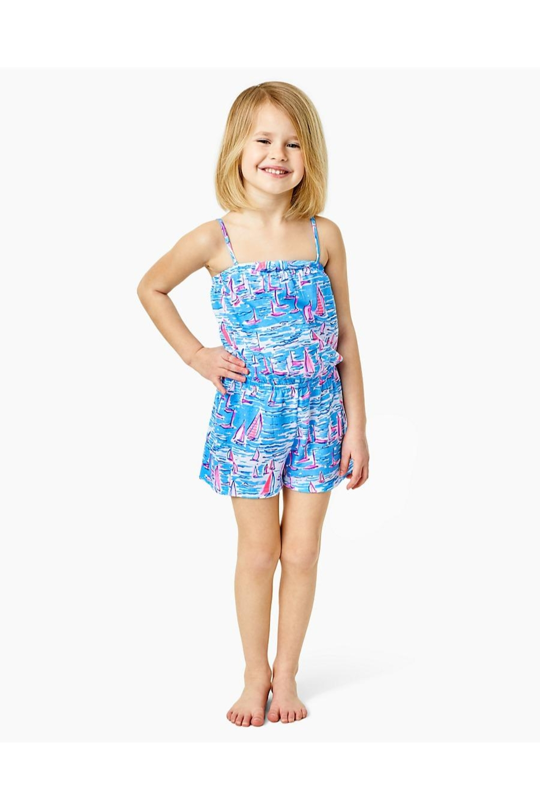Lilly Pulitzer Girls Jaycee Romper - Side Cropped Image