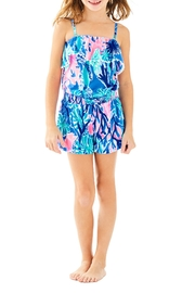 Lilly Pulitzer Girls Leonie Romper - Front cropped