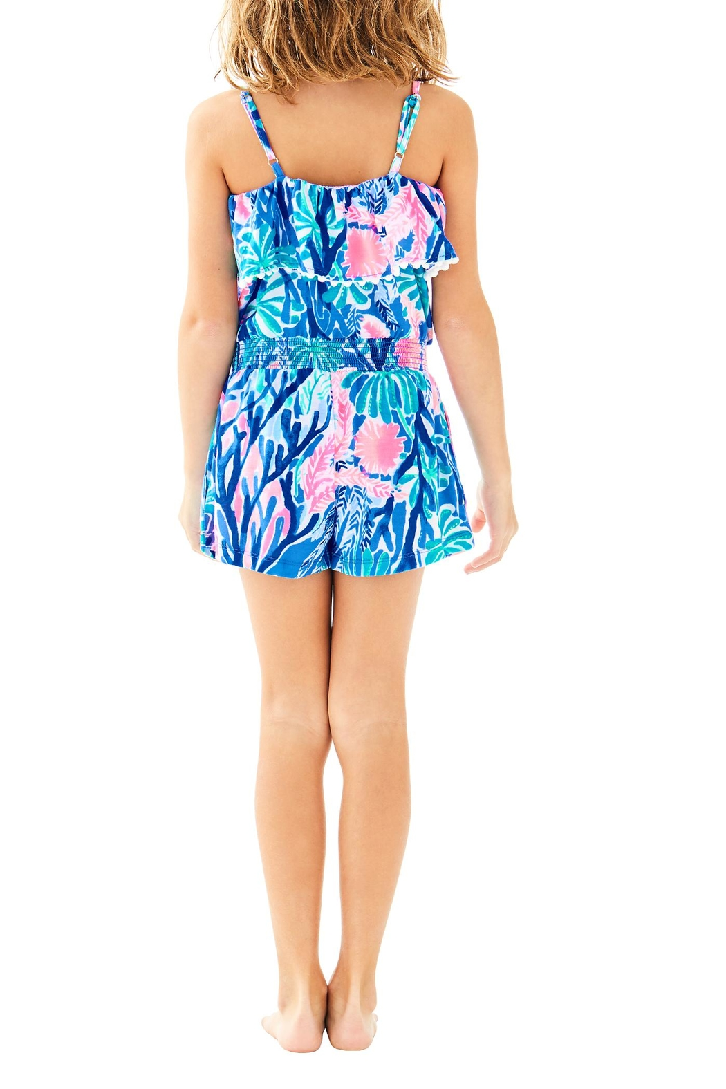 Lilly Pulitzer Girls Leonie Romper - Front Full Image