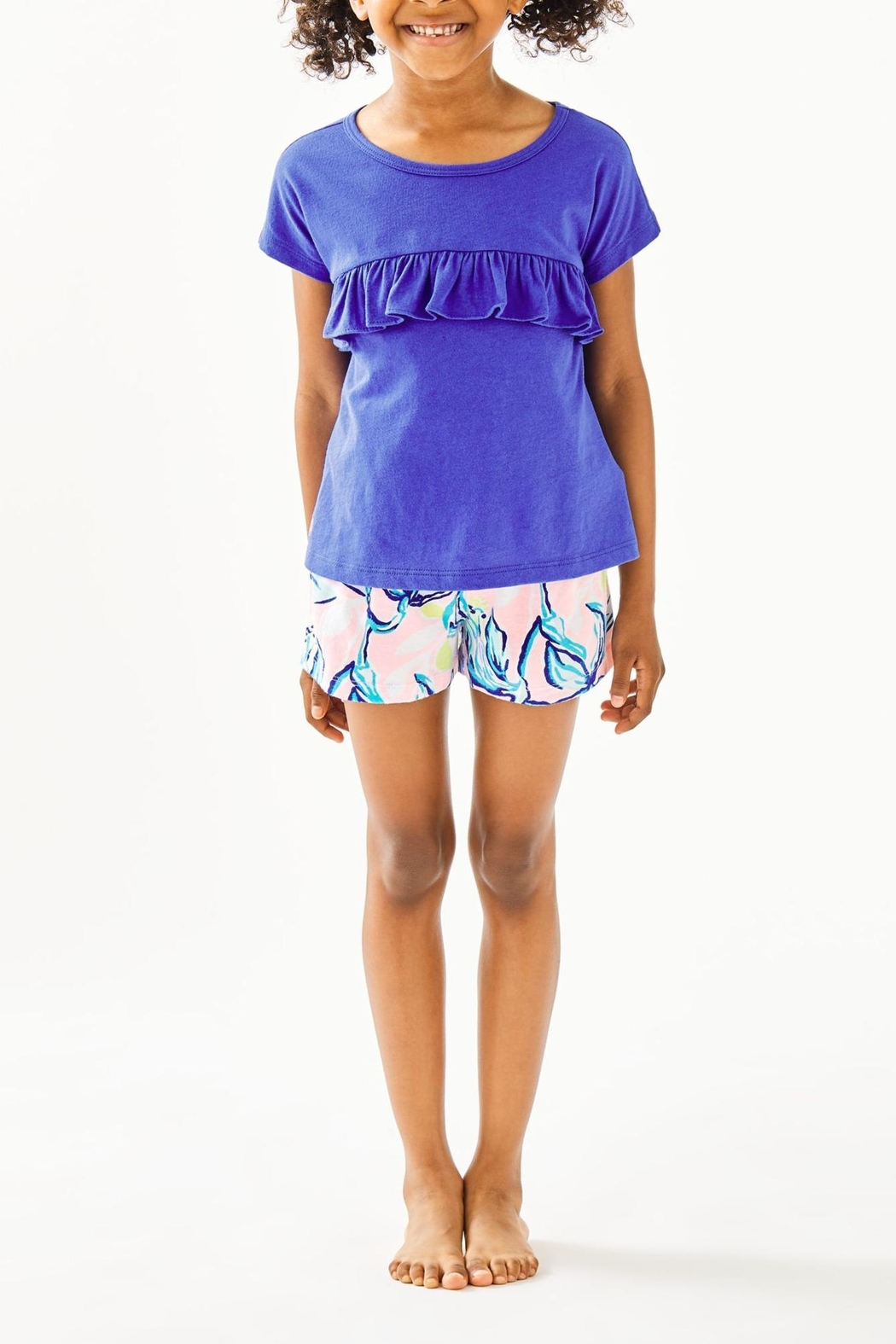 Lilly Pulitzer Girls Petal Top - Front Cropped Image