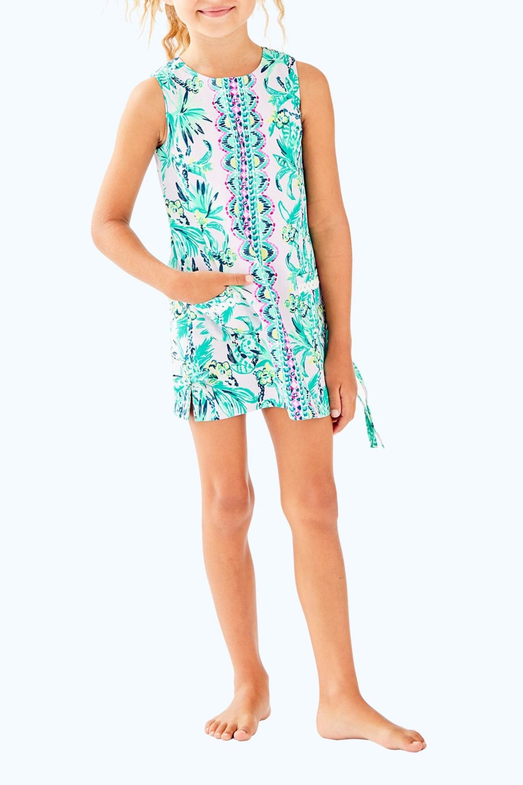 Lilly Pulitzer Girls Shift Dress - Front Cropped Image