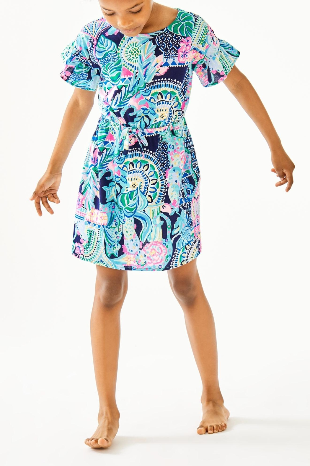Lilly Pulitzer Girls Stasia Dress - Side Cropped Image