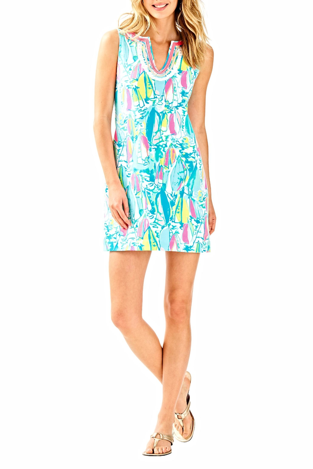 Lilly Pulitzer Harper Shift Dress - Back Cropped Image