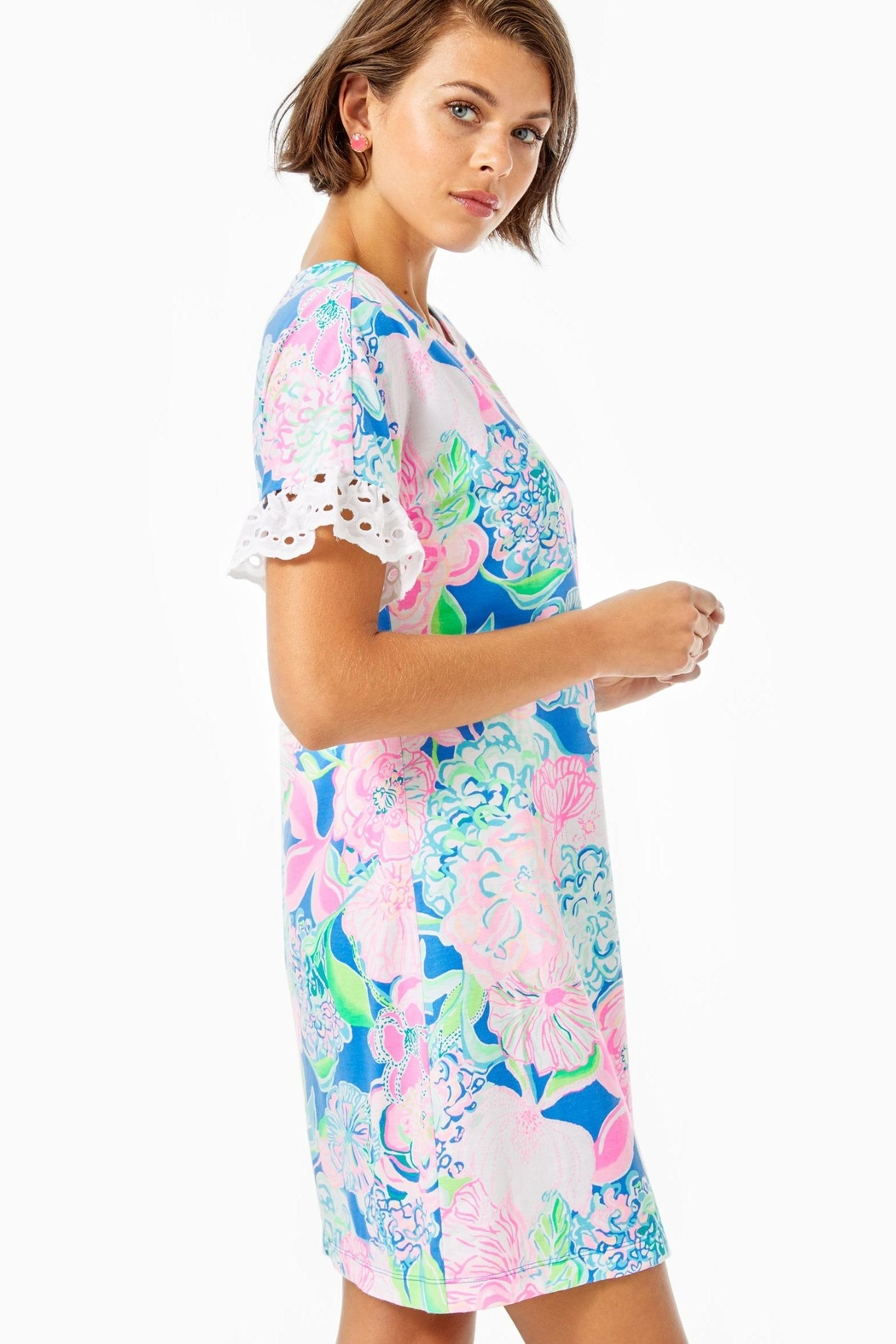 Lilly Pulitzer Helina T-Shirt Dress - Side Cropped Image