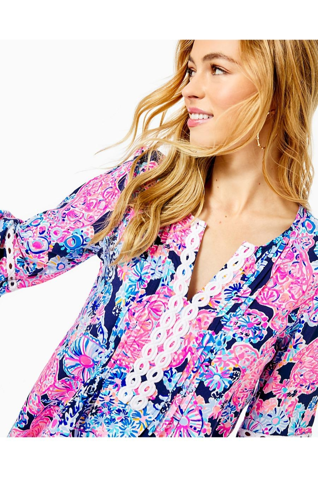 Lilly Pulitzer Hollie Tunic Top - Side Cropped Image