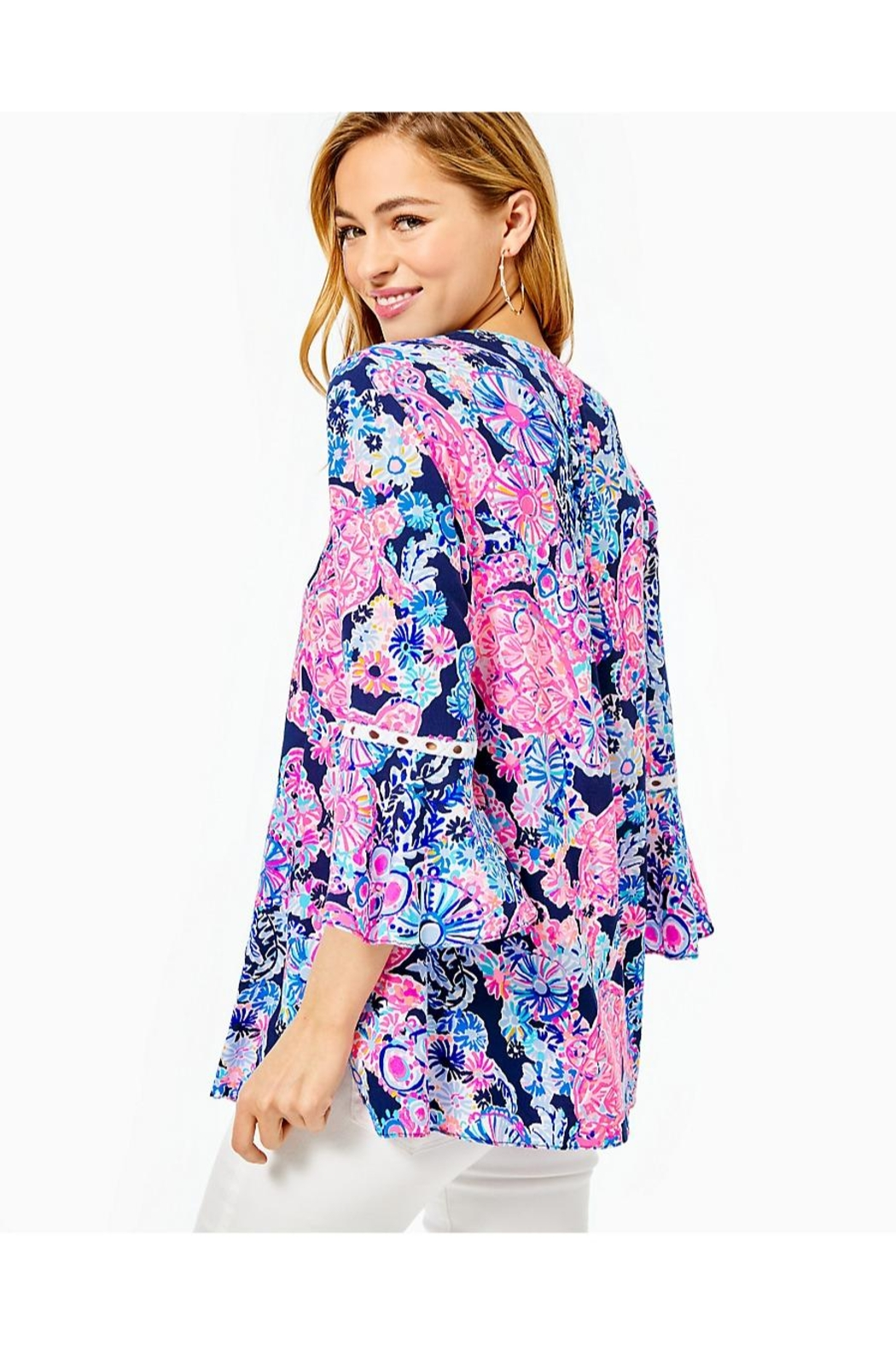 Lilly Pulitzer Hollie Tunic Top - Front Full Image