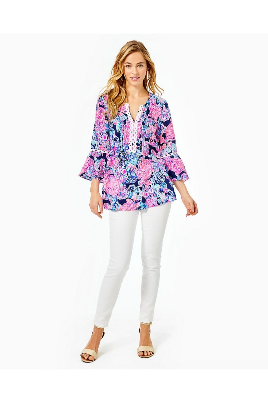 Lilly Pulitzer Hollie Tunic Top - Back Cropped Image