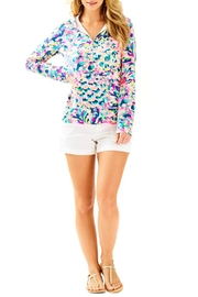 Lilly Pulitzer Hooded Skipper Popover Top - Front cropped
