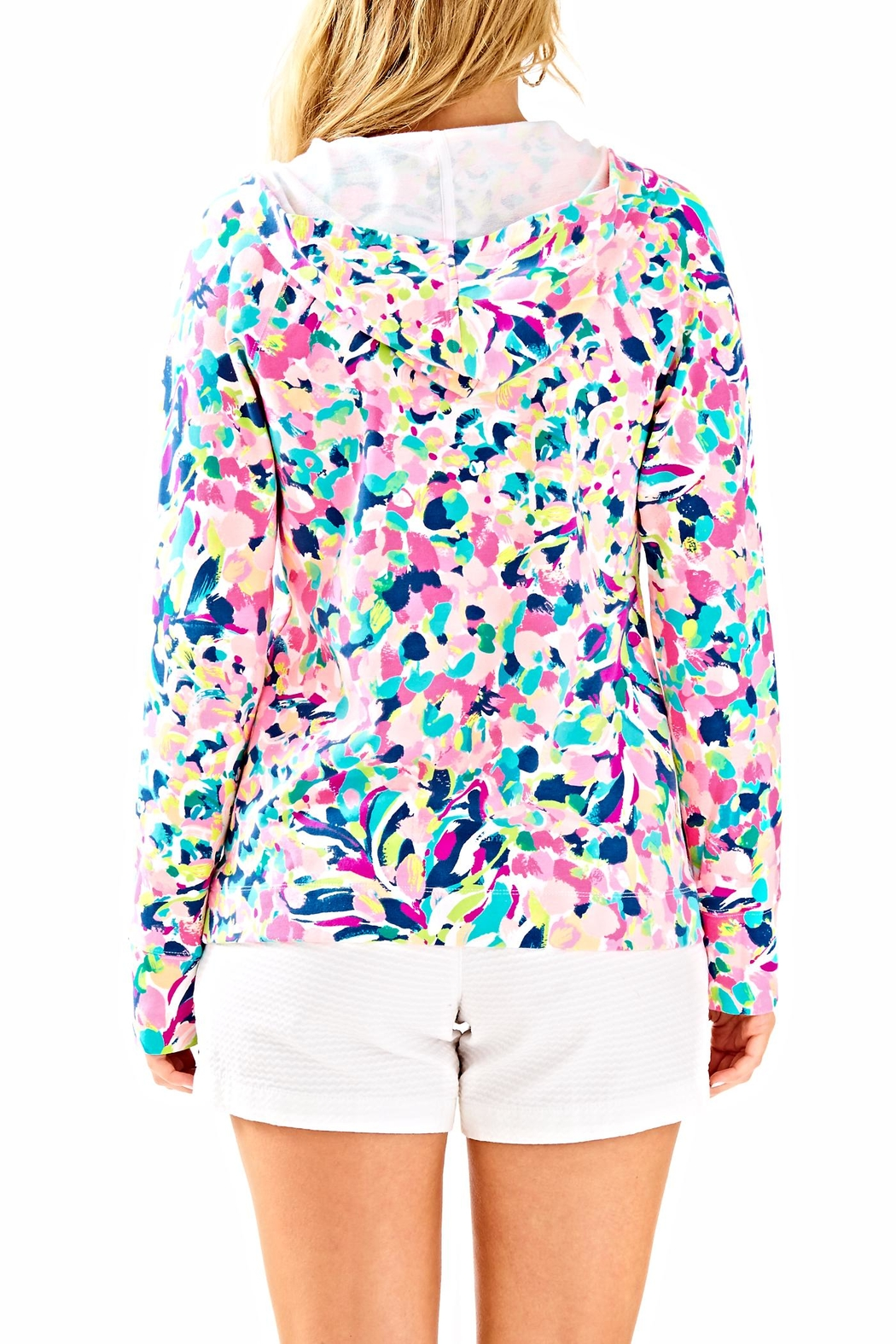 Lilly Pulitzer Hooded Skipper Popover Top - Front Full Image