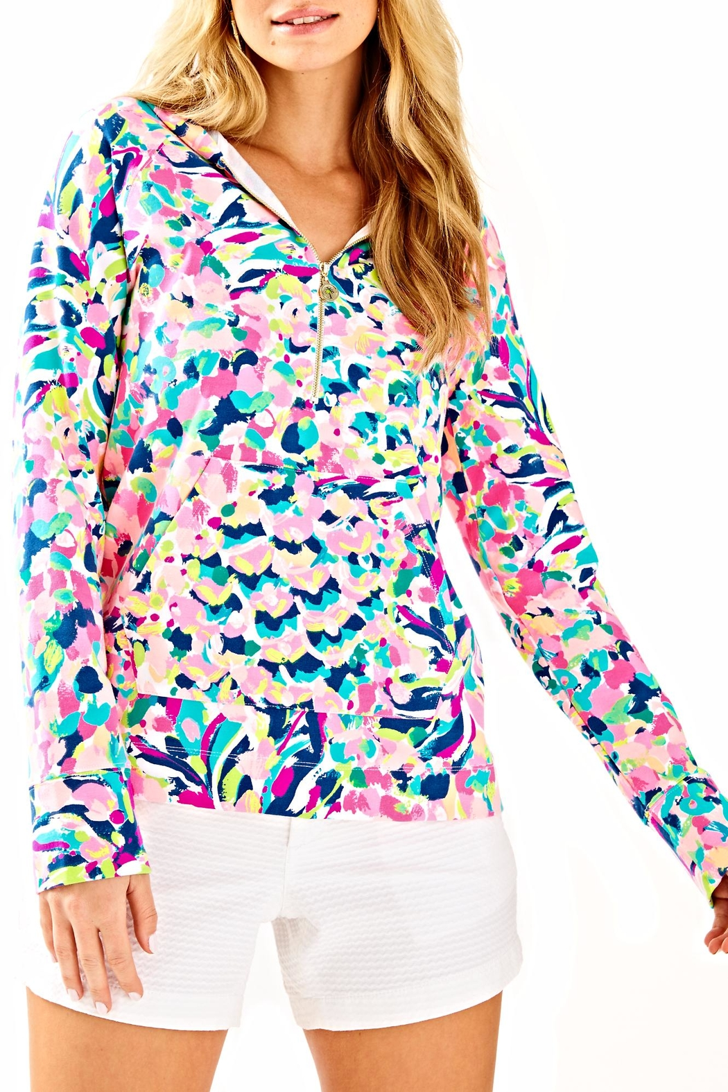 Lilly Pulitzer Hooded Skipper Popover Top - Side Cropped Image