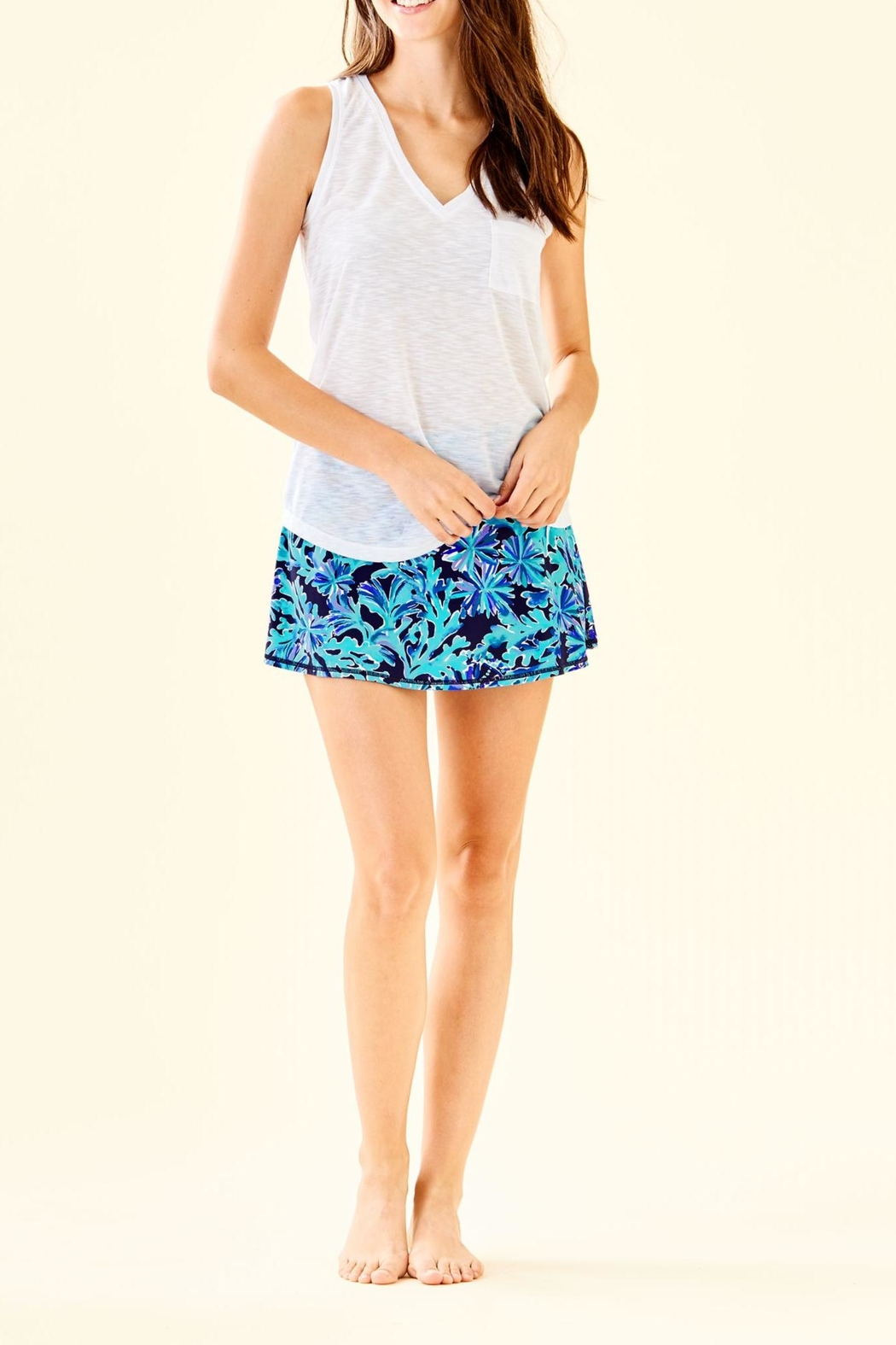 Lilly Pulitzer Luxletic Isla Tank - Side Cropped Image