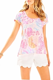 Lilly Pulitzer Inara Linen Top - Front cropped