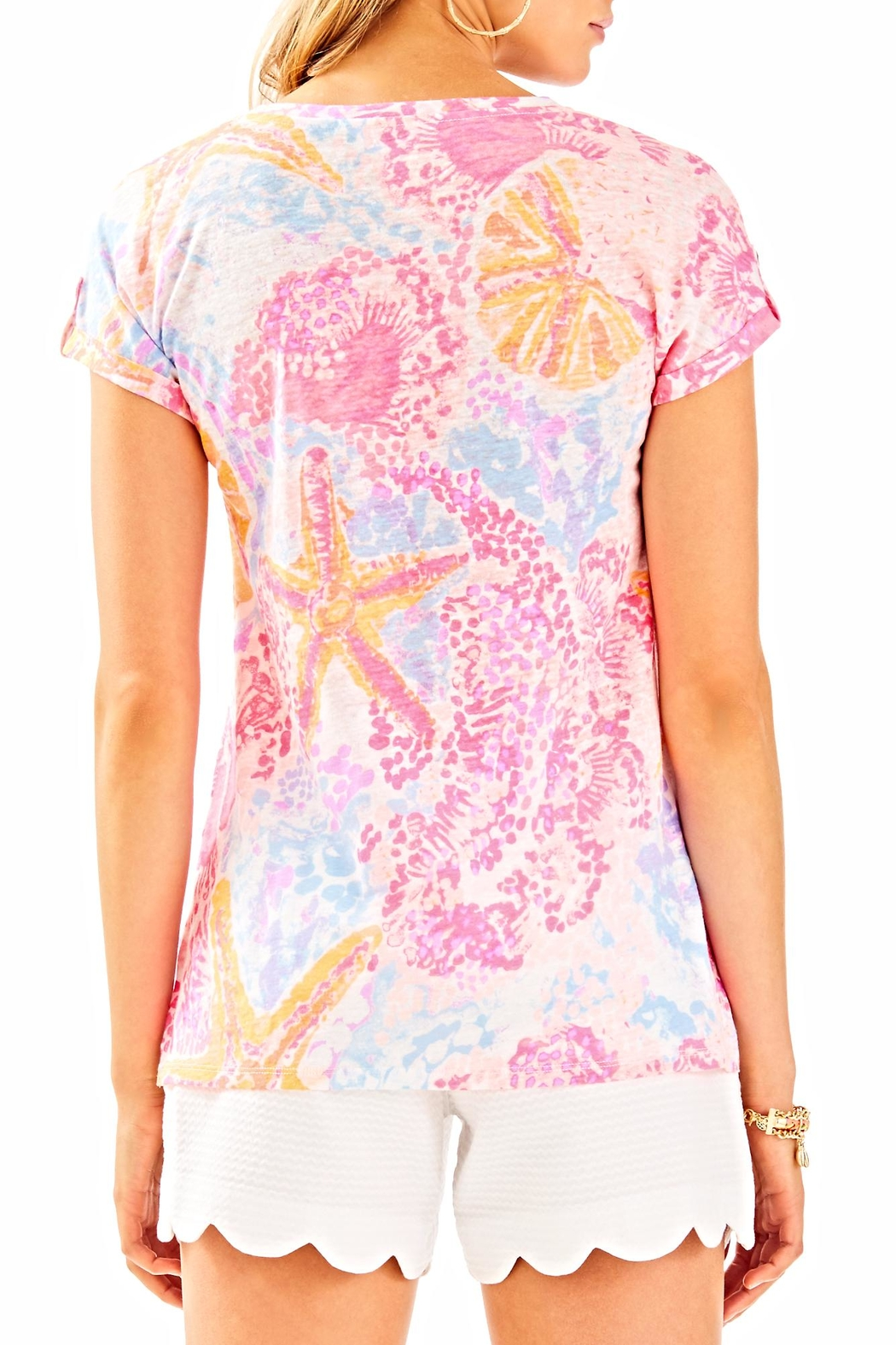 Lilly Pulitzer Inara Linen Top - Front Full Image