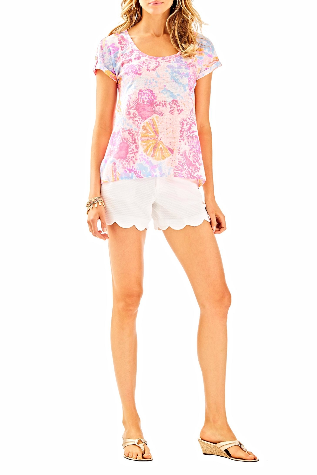 Lilly Pulitzer Inara Linen Top - Side Cropped Image