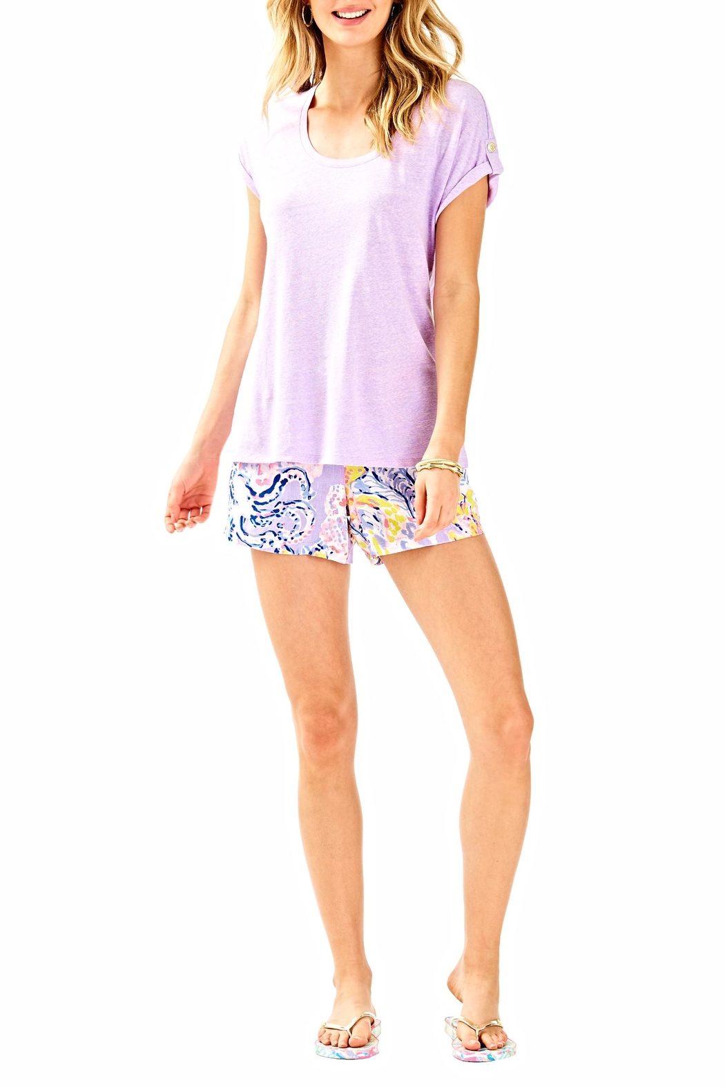 Lilly Pulitzer Inara Top - Side Cropped Image