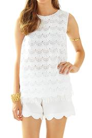 Lilly Pulitzer Iona Sleeveless-Lace Shell - Front cropped