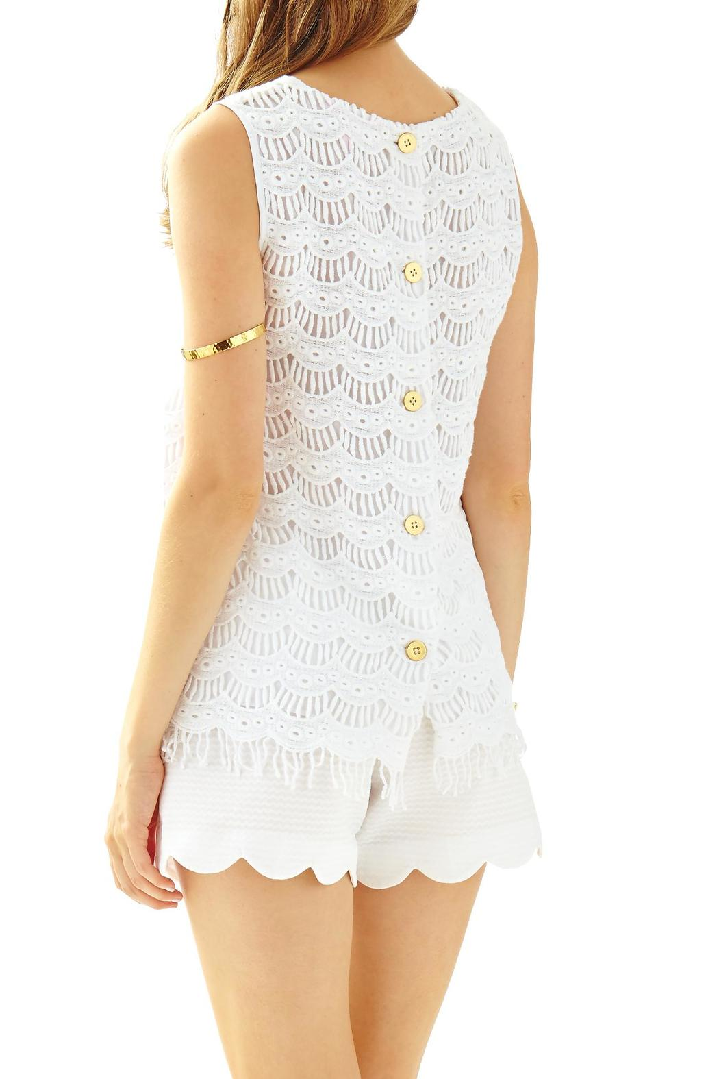 Lilly Pulitzer Iona Sleeveless-Lace Shell - Front Full Image