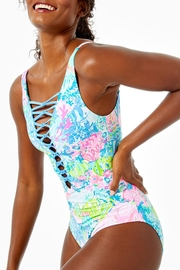 Lilly Pulitzer Isle Lattice One-Piece - Front cropped