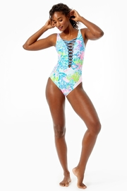 Lilly Pulitzer Isle Lattice One-Piece - Back cropped