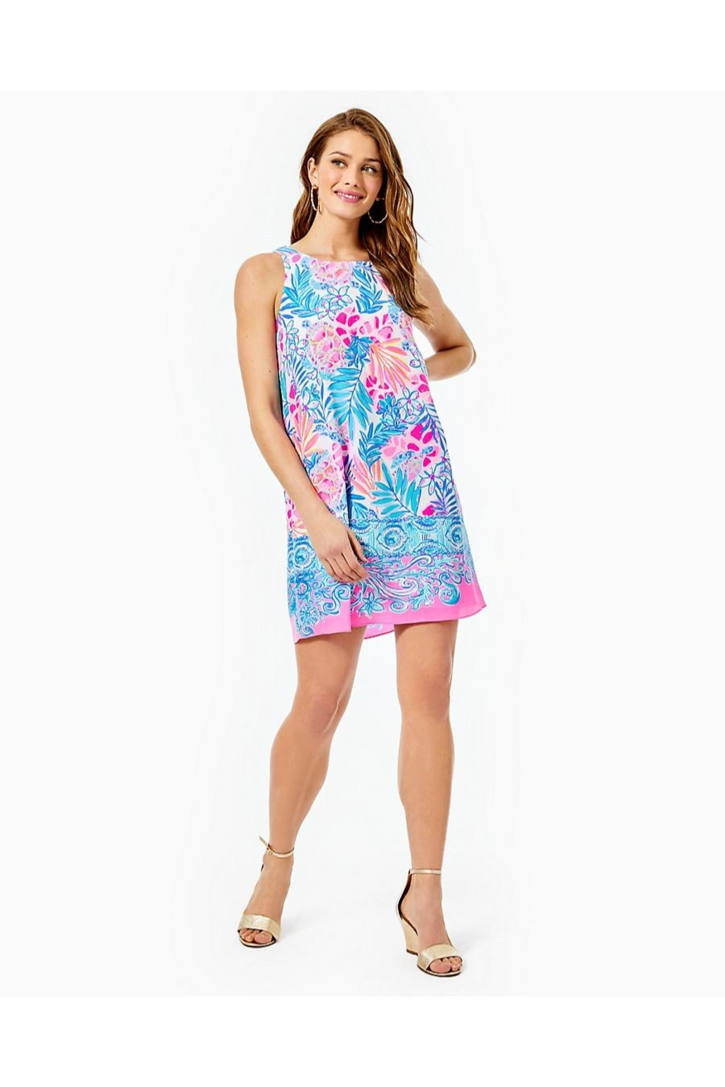 Lilly Pulitzer Jackie Shift Dress - Back Cropped Image