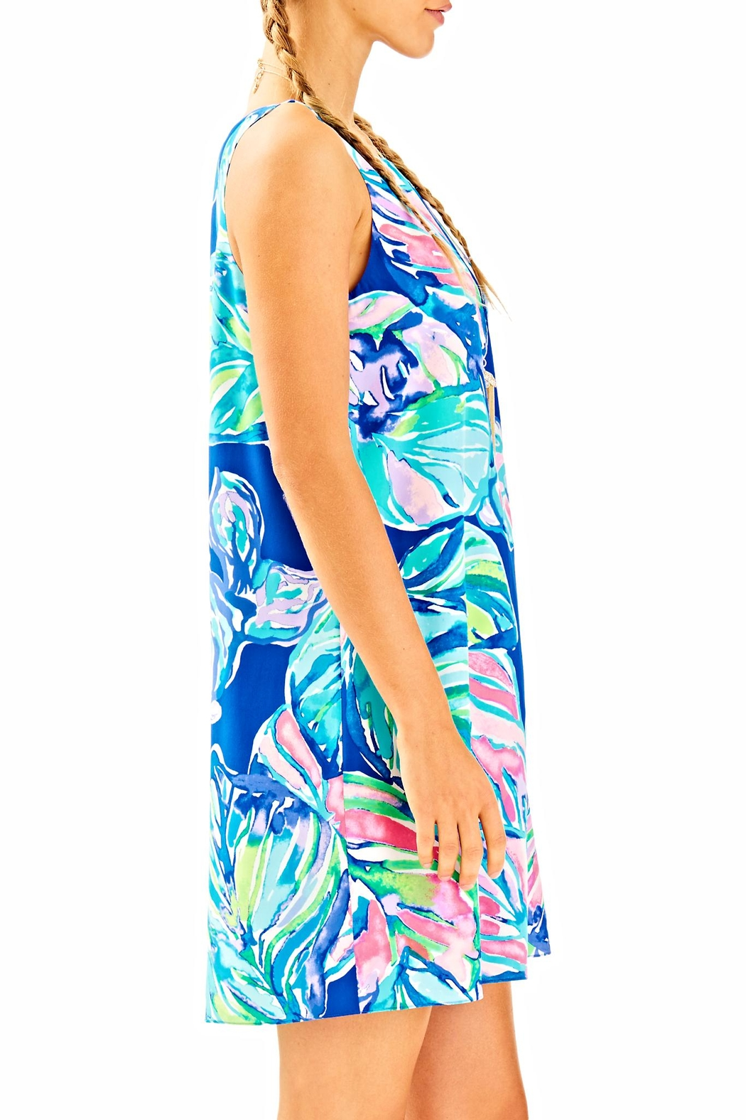 Lilly Pulitzer Jackie Silk Shift Dress - Side Cropped Image