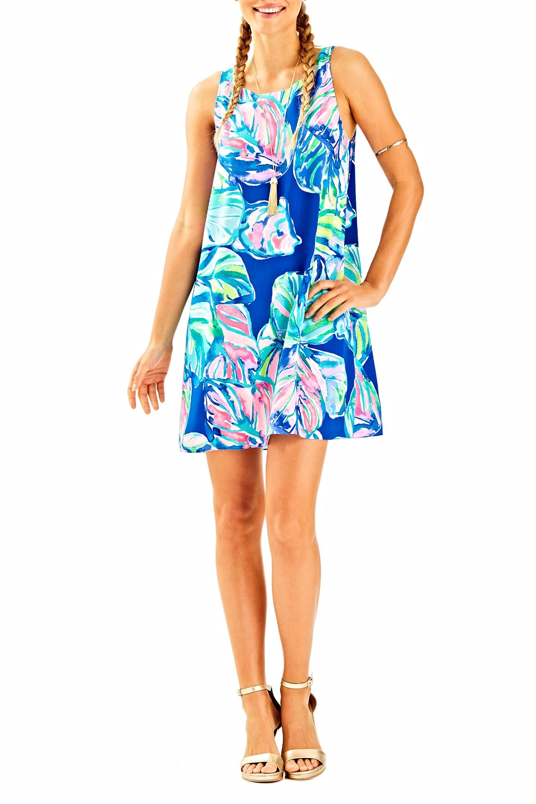 Lilly Pulitzer Jackie Silk Shift Dress - Back Cropped Image