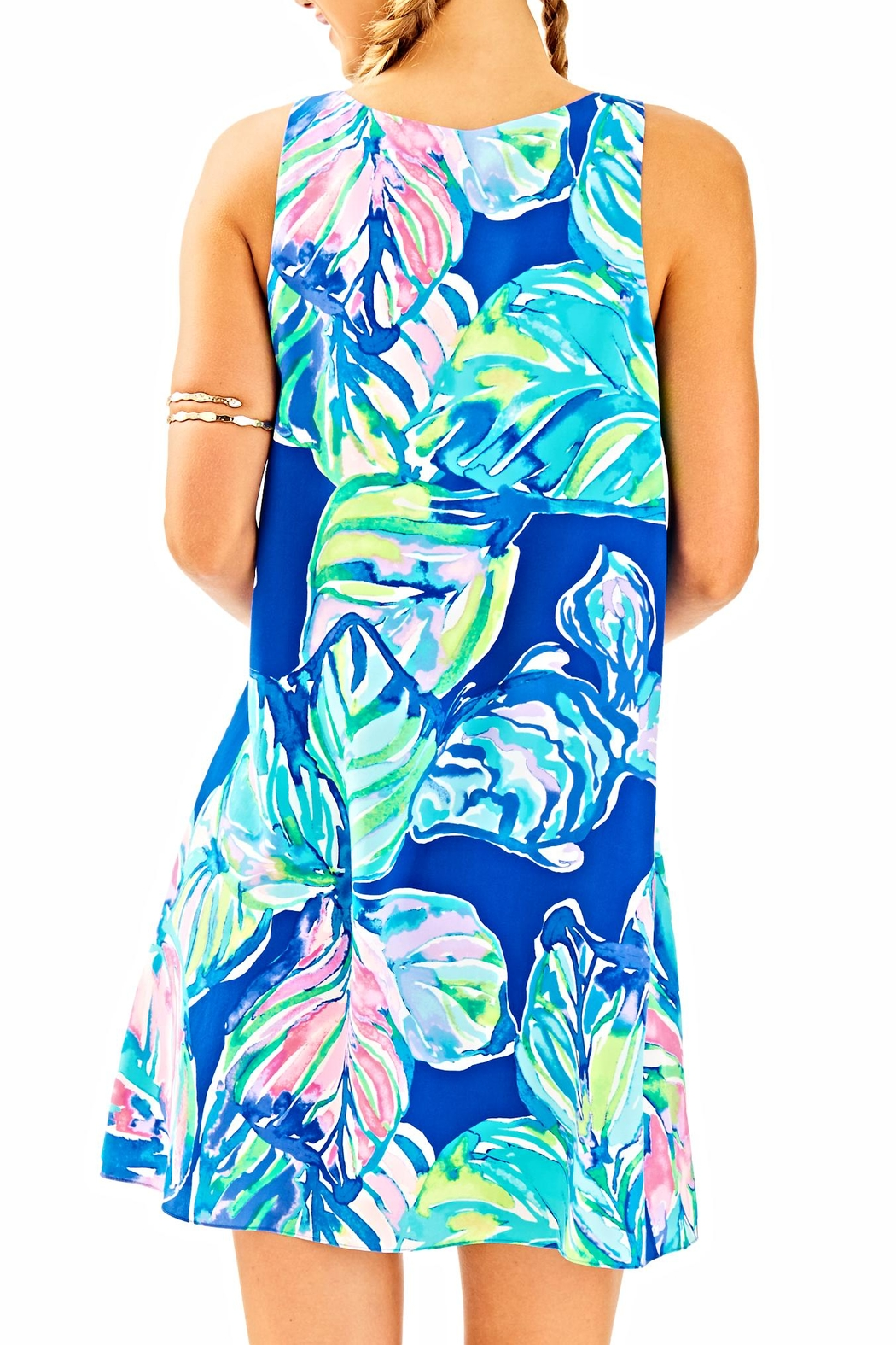 Lilly Pulitzer Jackie Silk Shift Dress - Front Full Image