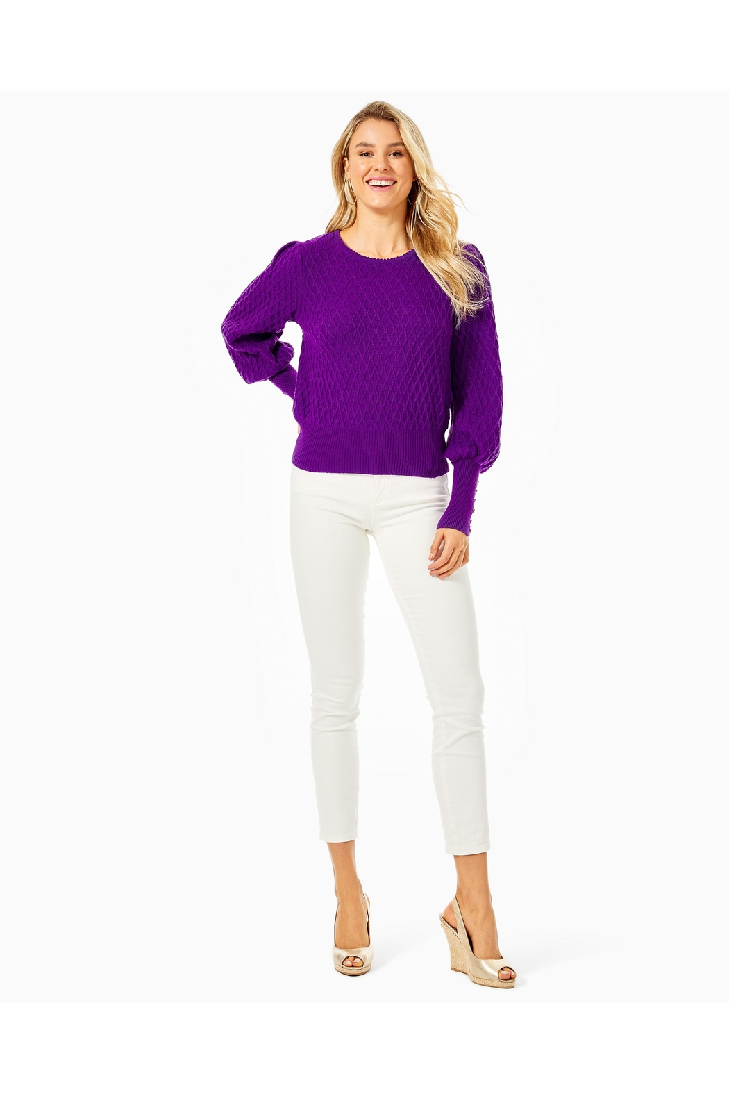 Lilly Pulitzer Jacquetta Sweater - Back Cropped Image