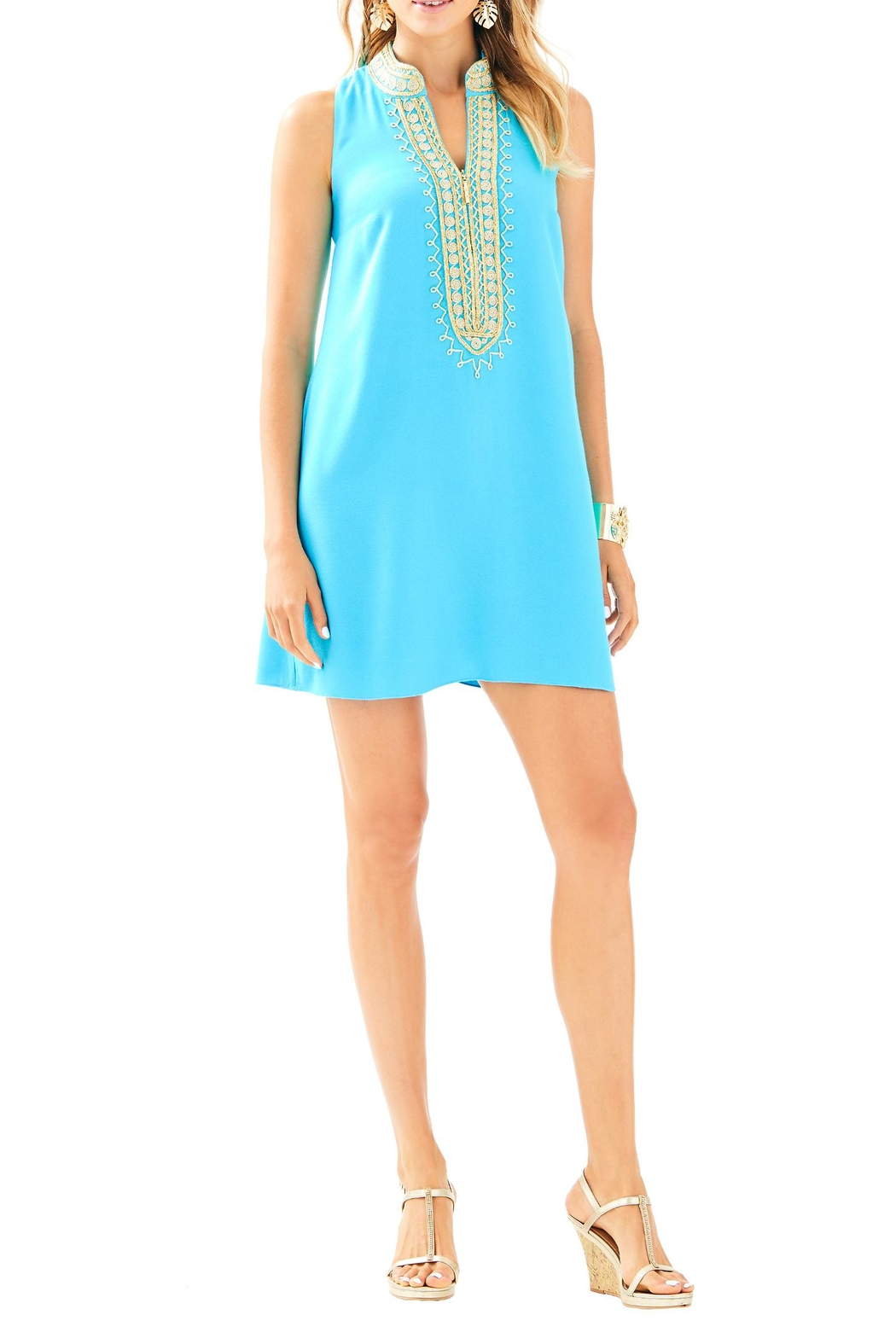 Lilly Pulitzer Jane Shift Dress - Back Cropped Image