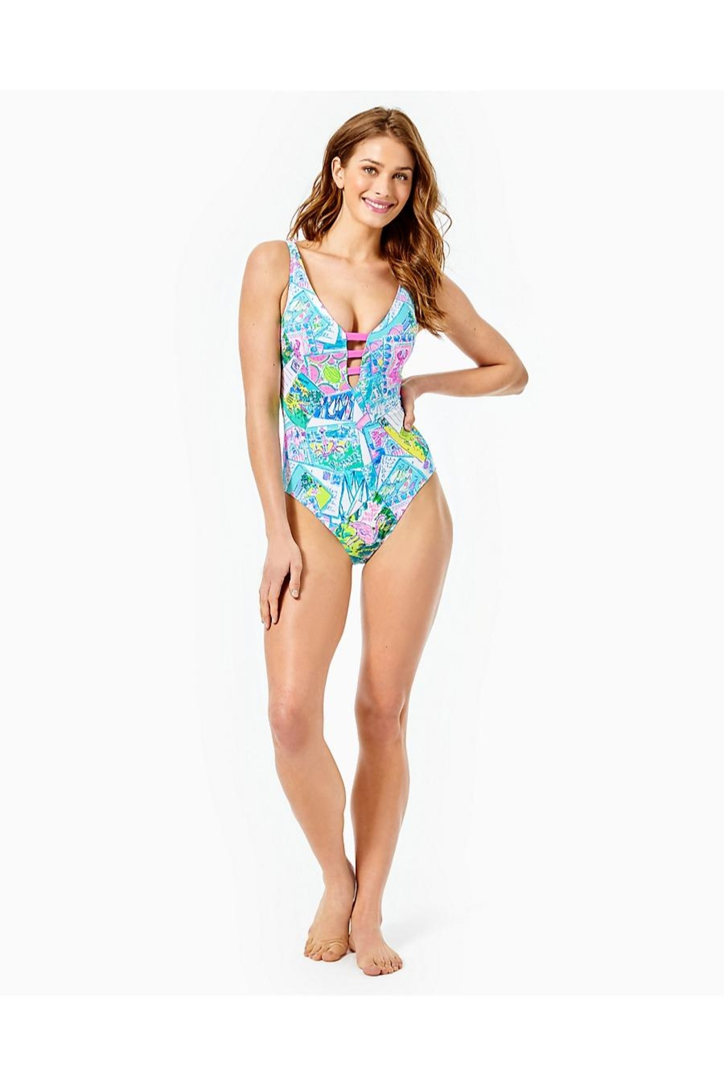 Lilly Pulitzer Jaspen One-Piece Swimsuit - Side Cropped Image