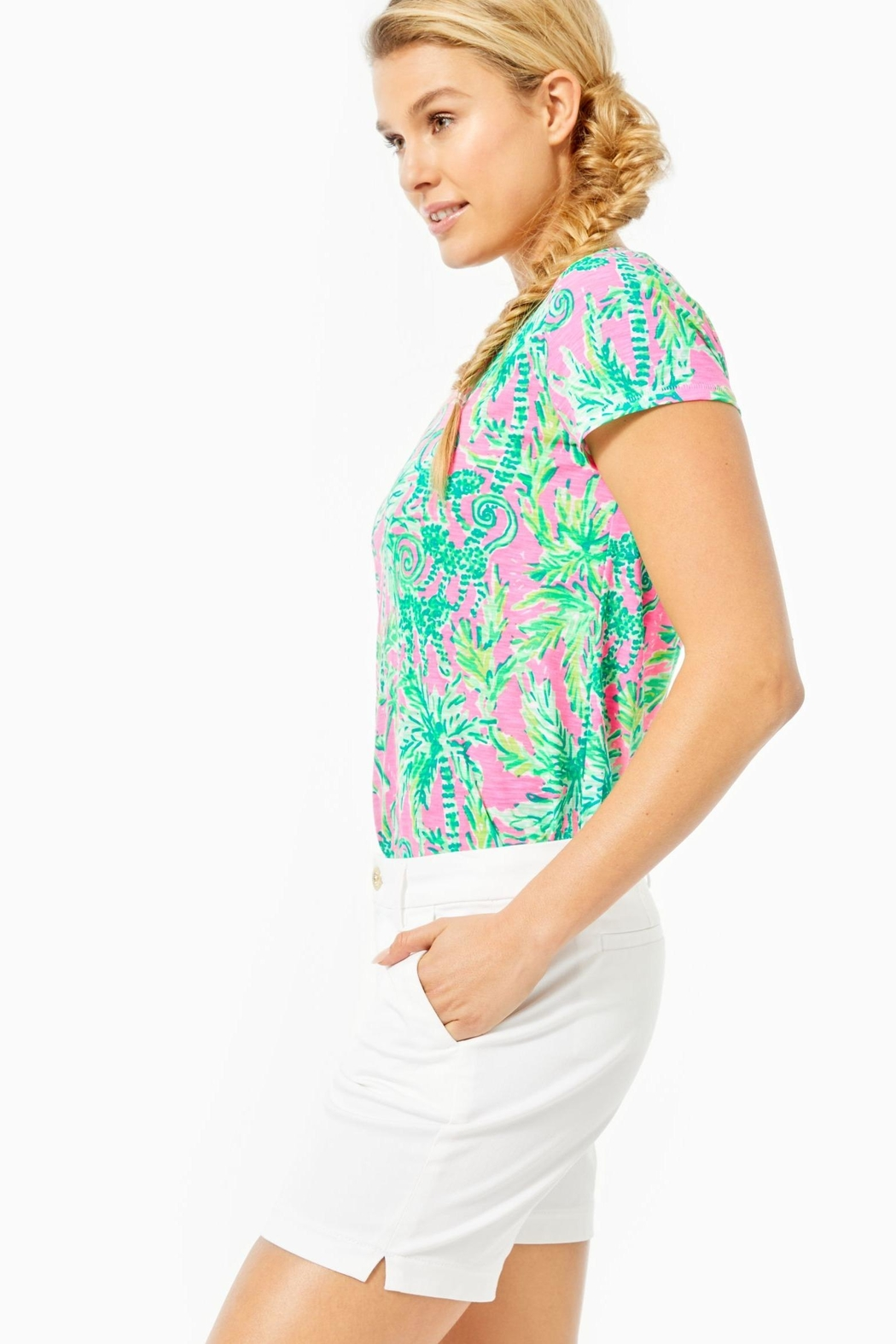 Lilly Pulitzer Jayne Stretch Short - Side Cropped Image
