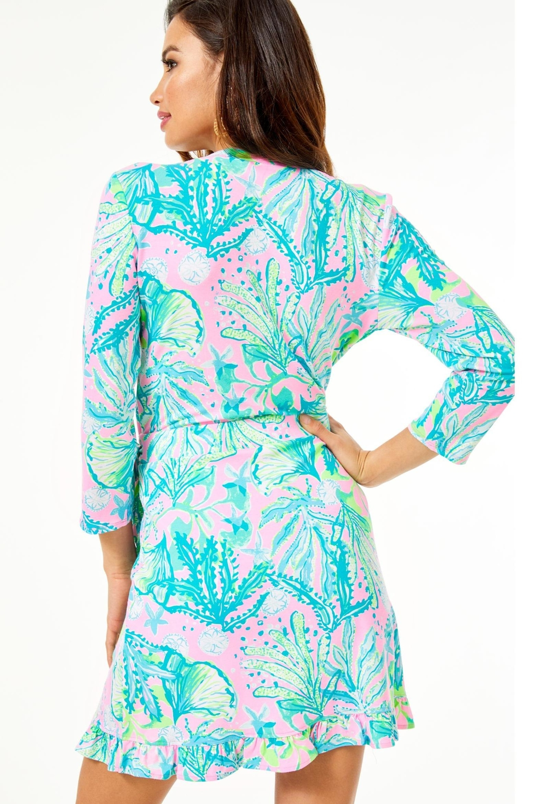 Lilly Pulitzer Jessalynne Wrap Romper - Front Full Image