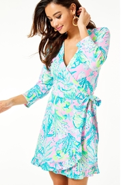 Lilly Pulitzer Jessalynne Wrap Romper - Front cropped