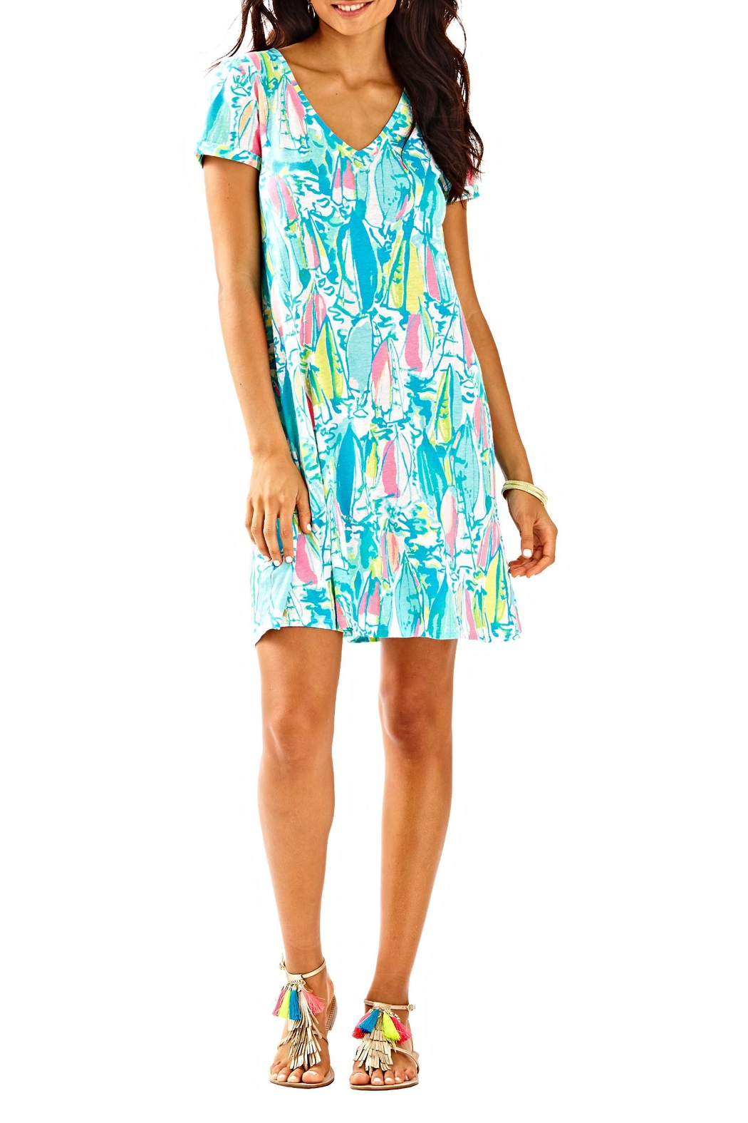 Lilly Pulitzer Short-Sleeve Dress - Back Cropped Image
